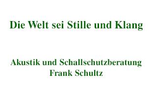 Bild zu Akustik und Schallschutzberatung Dipl.-Ing. Frank Schultz in Berlin