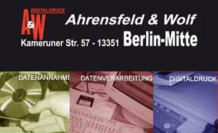 Logo von Ahrensfeld & Wolf GbR