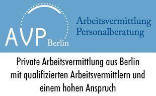 Logo von AVP Berlin Arbeitsvermittlung & Personalberatung  Dr. Blisse
