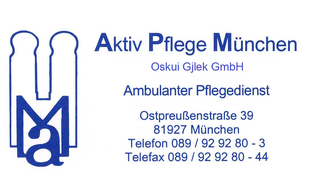 Logo von Aktiv Pflege München Oskui u. Gjlek GbR
