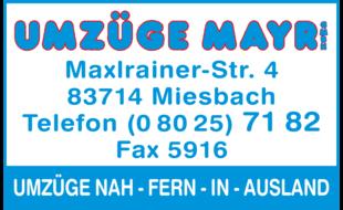 Bild zu Mayr GmbH Umzüge in Miesbach