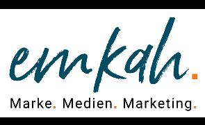 Logo von emkah - marke. medien. marketing.