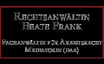 Bild zu Anwaltskanzlei Beate Frank Rechtsanwältin in Radeburg