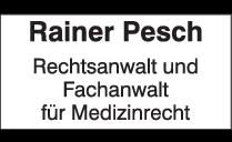 Logo von Rainer Pesch Rechtsanwalt & Fachanwalt für Medizinrecht