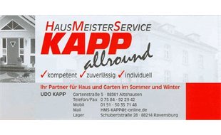 Logo von HMS Udo Kapp Hausmeisterdienste
