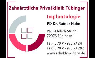 Logo von Prof.Dr.Hahn Rainer Zahnärztliche Privatklinik Tübingen