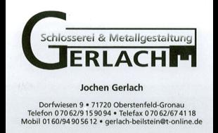 Bild zu Gerlach Schlosserei & Metallgestaltung in Gronau in Württemberg Gemeinde Oberstenfeld