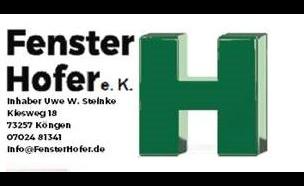 Bild zu Fenster Hofer e. K., Inhaber Uwe W. Steinke in Köngen