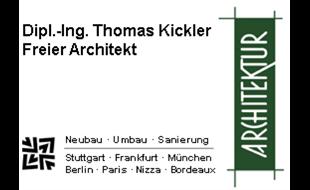 Dipl.-Ing. Thomas Kickler Freier Architekt