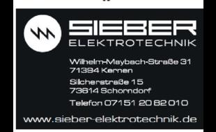 Bild zu Sieber Elektrotechnik GmbH in Rommelshausen Gemeinde Kernen im Remstal