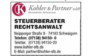Logo von Kohler & Partner mbB