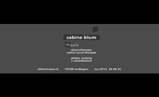 Praxis für Physiotherapie, Sabine Blum