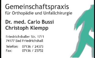 Bild zu Bussi Carlo Dr.med., Christoph Klempp FÄ für Orthopädie und Unfallchirurgie in Bad Friedrichshall