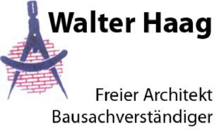 Architekt Haag Walter Dipl.Ing. FH Bausachverständiger
