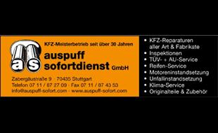 Logo von Auspuff-Sofortdienst GmbH Kfz-Meisterbetrieb