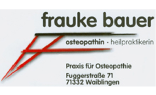 Logo von Bauer Frauke Praxis für Osteopathie