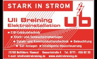 Bild zu Breining Uli Elektroinstallation in Ostfildern
