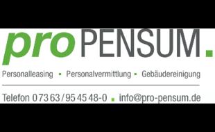 Pro PENSUM Personaldienstleistung
