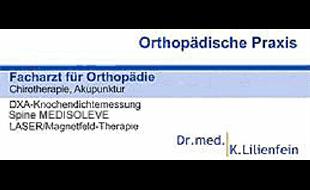 Lilienfein Kilian Dr. med. Facharzt für Orthopädie, Chirotherapie, Akupunktur