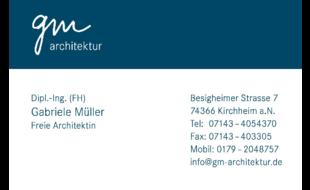 Logo von gm architektur Müller Gabriele Dipl.Ing. (FH)