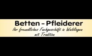 Logo von Betten Pfleiderer
