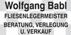 Kundenlogo von Babl Wolfgang Fliesen