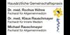 Kundenlogo von Höhne Rochus Dr.med. u. Rauschmayer Klaus Dr.med.