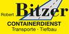 Kundenlogo von Bitzer Robert, Inh. Gerhard Bitzer Containerdienst,  Transporte,  Tiefbau, Fuhr- u. Baggerbetrieb