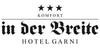 Kundenlogo von Hotel in der Breite Siegfried Conzelmann