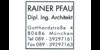 Kundenlogo von Pfau Rainer Dipl.-Ing. Architekt