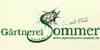 Kundenlogo von Sommer Erhard, Albrecht Gärtnerei