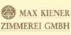 Kundenlogo von Kiener Max Zimmerei GmbH