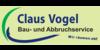 Kundenlogo von Bau-Abbruchservice Vogel Claus
