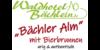 Kundenlogo von Waldhotel Bächlein und Bächler Alm
