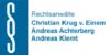Kundenlogo von Achterberg Andreas, Christian Krug von Einem & Andreas Klemt Rechtsanwälte