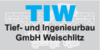 Kundenlogo von Tief- und Ingenieurbau GmbH Weischlitz