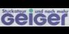 Kundenlogo von Geiger Stuckateur und noch mehr