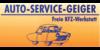 Kundenlogo von Auto Service Geiger Freie KFZ-Werkstatt