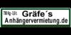 Kundenlogo von Gräfe Marcel Anhängervermietung