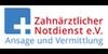 Kundenlogo von A&V Zahnärztlicher Notdienst Vermittlung e.V.