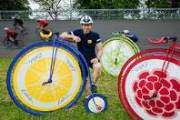 R.White's attempts a world record on a Penny Farthing as part of its summer marketing push