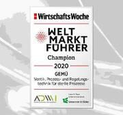 GEMÜ zum vierten Mal in Folge als Weltmarktführer ausgezeichnet
