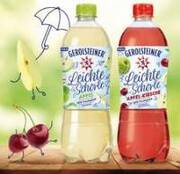 New from January 2021: Naturally low-calorie - Gerolsteiner Leichte Schorle (Light Spritzer)