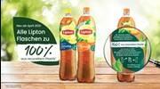 Alle Flaschen der PepsiCo Getränkemarke Lipton sind ab April 2021 zu 100 % aus ...