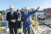 The president of the Board of Castilla-La Mancha inaugurates the Ence biomass ...