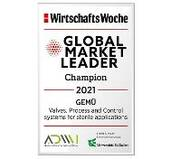 GEMÜ honoured as 'Global Market Leader' for the fifth time in a row