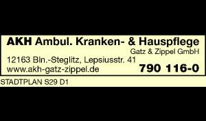 Logo von AKH Ambulante Krankenpflege und Hauspflege Gatz & Zippel GmbH