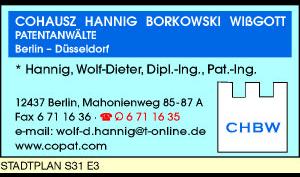 Logo von Cohausz, Hannig, Borkowski, Wißgott