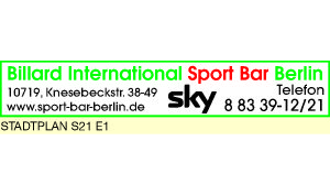 Logo von Billard International Sport Bar Berlin