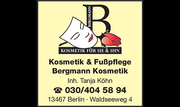 Logo von Bergmann Kosmetik Inh. Tanja Köhn
